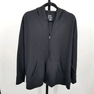 Just My Size Hanes Hooded Jacket Zip Up Black 2X